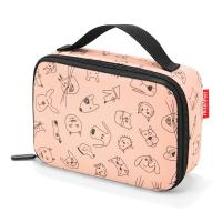 Малка и практична детска термо чанта Reisenthel Thermocase Kids Cats and Dogs в цвят роза