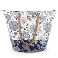 Плажна чанта в бяло и тъмносиньо Gabol Habana