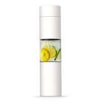 Бяла стилна бутилка с инфузер за плодове Asobu Flavour U See 460мл