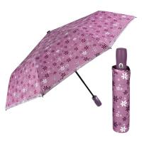 Дамски лилав автоматичен чадър на цветя Perletti Technology