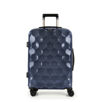 Стилен син куфар среден размер поликарбонат 65см Gabol Air
