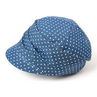 Дамска памучна шапка-кастек HatYou, синя на точки