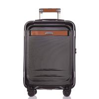 Малък елегантен черен куфар за ръчен багаж 55см Puccini Stockholm