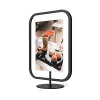 Черна дизайнерска рамка за снимка 13х18см Umbra Infinity Sqround