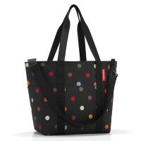 Универсална дамска чанта в черен цвят на точки Reisenthel Multibag, dots