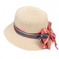 Изискана лятна шапка с голяма периферия и панделка HatYou, натурален цвят