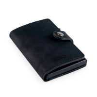 Черен портфейл за банкови карти с RFID защита L`Hedoniste Datasave от изкуствена кожа