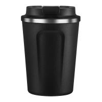 Двустенна термо чаша Asobu Cafe Compact 380мл, в черен цвят