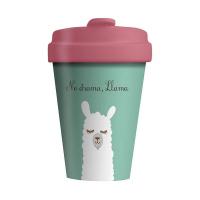Чаша за кафе с лама и надпис Chic Mic