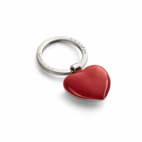 Стилен ключодържател сърце Philippi Sweetheart с две различни страни червена и хромирана