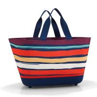 Стилна цветна голяма дамска чанта за пазар Reisenthel Shoppingbasket, Artist Stripes