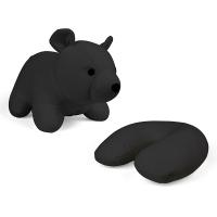 Възглавница и детска играчка черно мече Kikkerland