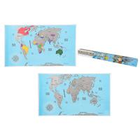 Скреч карта на света за пътуване