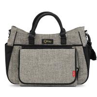 Бежова чанта за бебешка количка Lorelli Qplay Duo, с термоизолатор Light GREY