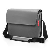 Стилна сива бизнес чанта Reisentel Courierbag 2 canvas, black 13