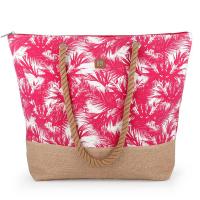 Дамска плажна чанта в розово Gabol Tahiti 50см