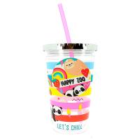 Детска чаша със сламка Chic-Mic Just hanging