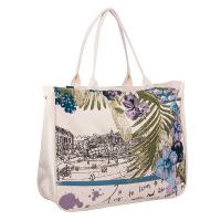 "Чанта за плажа ""Пейзаж"" HatYou, бежова"