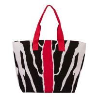 Плажна чанта в червено и черно HatYou