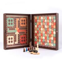 Комбинирана игра на шах, табла, не се сърди човече и змии 4в1 Manopoulos
