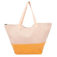 Стилна чанта за плажа HatYou в жълто с лъскав ефект