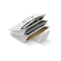 Кожен калъф за кредитни карти Philippi Donatella в бял цвят
