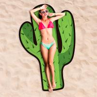 Зелена плажна кърпа