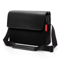 Стилна черна бизнес чанта Reisentel Courierbag 2 canvas, black 13