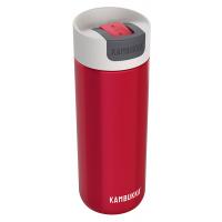 Червена голяма термочаша за кафе или чай от неръждаема стомана Kambukka Olympus
