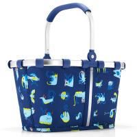 Практична детска чанта Reisenthel Carrybag XS Abc Friends в тъмносин цвят