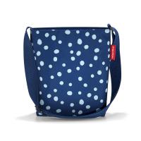 Практична тъмносиня дамска малка чанта за през рамо Reisenthel Shoulderbag S, spots navy