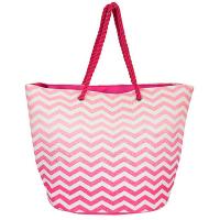 Стилна дамска цикламена плажна чанта от канап HatYou