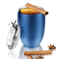 Стилна двустенна термо чаша Asobu Imperial с вакуумна изолация и вместимост от 300мл, в син цвят