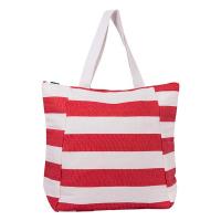 Червена плажна чанта на райета HatYou