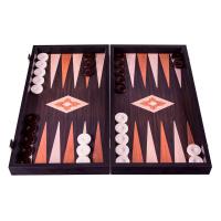 Дървена класическа тъмнокафява табла за игра Manopoulos венге, реплика