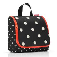 Тоалетна чанта за принадлежности Reisenthel Toiletbag, в черен цвят на точки