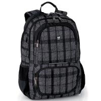 Стилна черна раница за момче Gabol Marvin с джоб за лаптоп