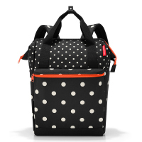 Раница и пътна чанта Reisenthel Allrounder R Large mixed dots, черна на точки