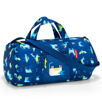 Детска пътна или спортна чанта за момче в синьо Reisenthel mini maxi dufflebag S, abc friends blue