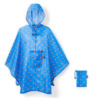 Портативен дъждобран пончо в синьо с червени точки Reisenthel Mini maxi poncho azure dots