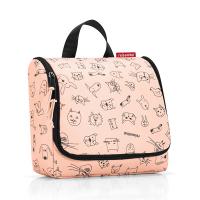 Тоалетна чанта за принадлежности Reisenthel Toiletbag Cats and Dogs, в цвят роза