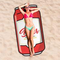 Оригинална плажна кърпа във формата кенче бира Giggle Beaver