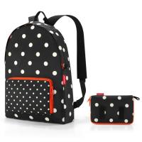 Черна портативна сгъваема раница за път Reisenthel Mini maxi rucksack
