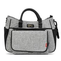 Сива чанта за детска количка Lorelli Qplay Duo, с термоизолатор Light GREY
