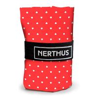 Червена чанта за пазаруване на сърчица Vin Bouquet Nerthus