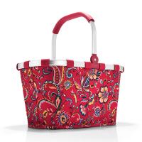 Червена чанта за пазар с флорални ементи Reisenthel Carrybag, paisley ruby
