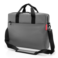 Стилна сива изискана бизнес чанта за лаптоп 15