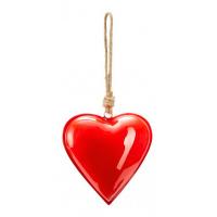 Изискан сувенир сърце за любим човек в червено Phillipi