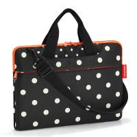 Удобна черна чанта на точки за лаптоп 15.6