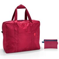 Портативна сгъваема тъмночервена пътна чанта Reisenthel Mini maxi touringbag, dark ruby